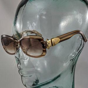 Auth. Gucci glitter brown stripe sunglasses